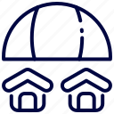 bukeicon, estate, insurance, property, real, umbrella