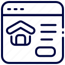 bukeicon, house, marketplace, online, property, window icon