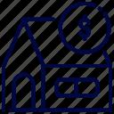 bank, bukeicon, house, money, saving icon