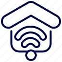 bukeicon, house, internet, property, smart, wifi