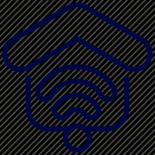 bukeicon, house, internet, property, smart, wifi icon