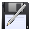 disk, pen, save, save as, write icon