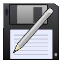 disk, pen, save, save as, write icon