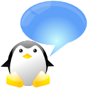 chat, penguin, tux icon