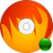 burn, disk, fire icon