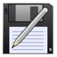 disk, guardar, pen, save, save as, write icon