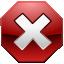 cancel, error, stop, x icon