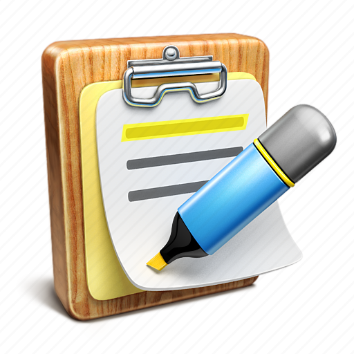 Document, highlighter, list, note, notepad icon   Icon ...