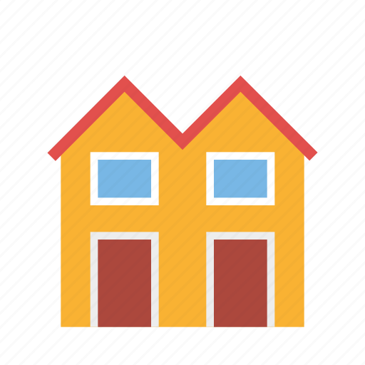 building, home, house, real estate, realty, row house, townhouse icon