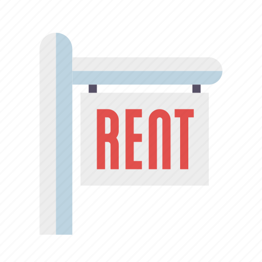 home, house, real estate, realty, rent, sign icon