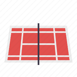 facility, home, real estate, realty, sports, tennis court icon