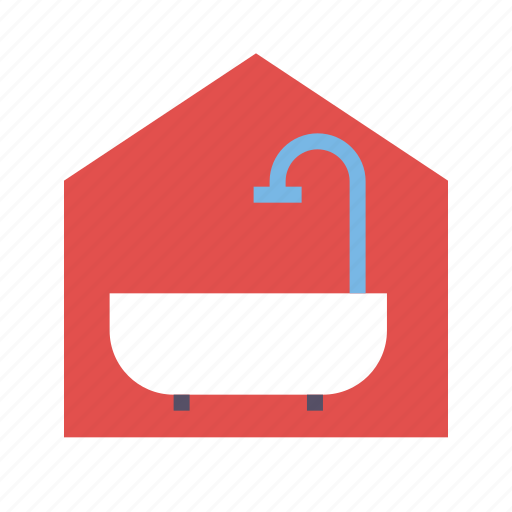 bathroom, home, house, real estate, realty icon