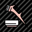 comb, plate, keratin, application, hair, procedure