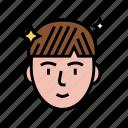 man, after, keratin, used, hair, procedure