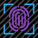barcode, close-up, fingerprint, recognition, scan