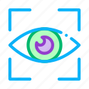 eye, human, recognition, scanning, user