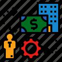 employee, employment, labor, money, worker icon