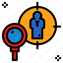find, headhunter, recruiter, recruitment, search icon