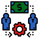 employment, hire, hiring, job, money icon
