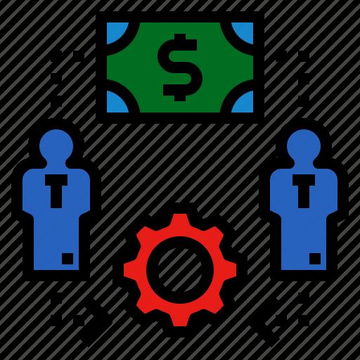 employment, hire, hiring, job, money icon