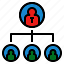 association, connect, network, organization, position icon