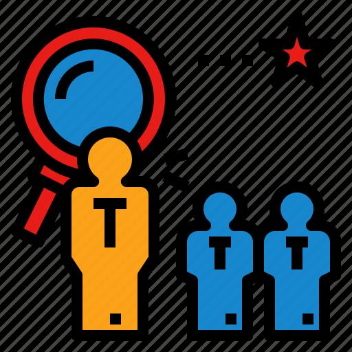 employment, interview, recruiter, recruitment, search icon