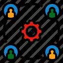 board, labor, process, worker, workforce icon