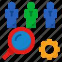 find, hr, human, recruitment, resource icon