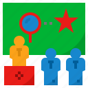 interview, question, search, talk, test icon