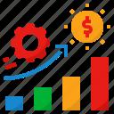 business, growth, job, profit, work icon