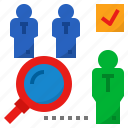 find, recruitment, screening, search, select icon