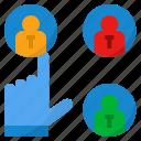 data, profile, resume, select, selecting icon