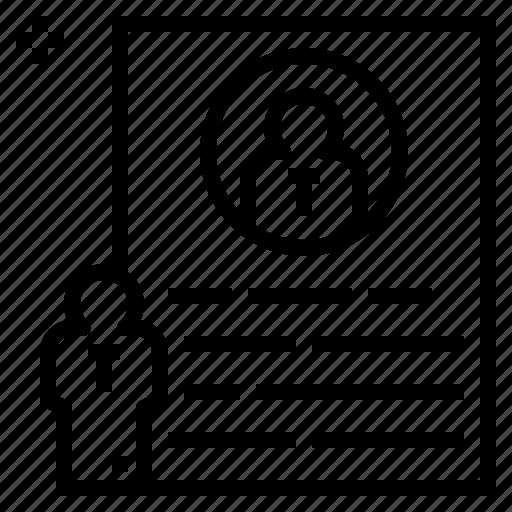 Data, profile, recruitment, resume, vitae icon - Download on Iconfinder
