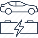 car, energy, engine, recycling icon