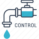 control, crane, recycling, water icon