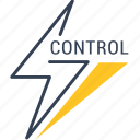 control, energy, recycling icon