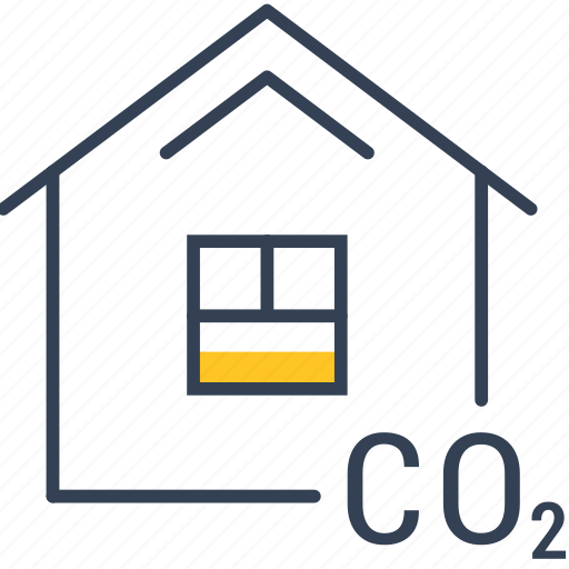house, oxygen, recycling icon