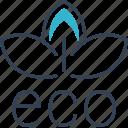 bio, eco, recycling, sheet icon