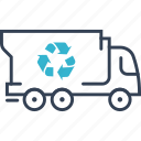 recycling, system, truck icon