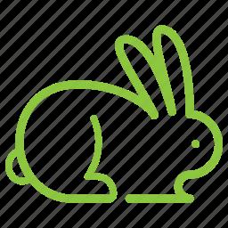 animal, nature, not tested on animals, rabbit icon