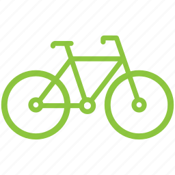 bicycle, bike, cycle, ecological, transport icon