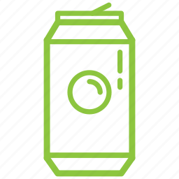 beverage, can, drink, metal, recycle icon