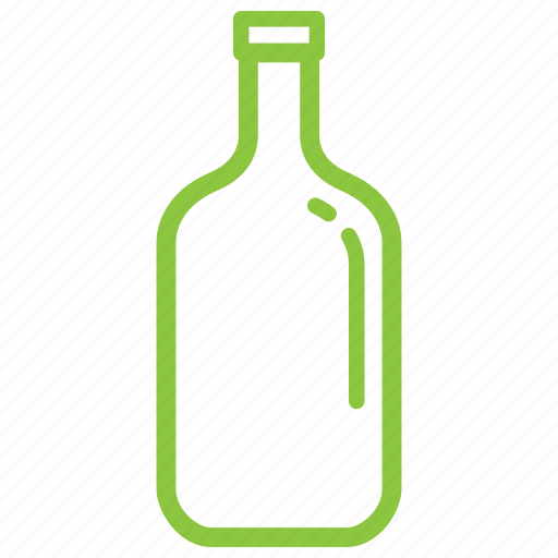 bottle, glass, recycle icon