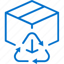 box, cardboard, garbage, package, recycle, recycling, trash icon