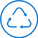 cycle, eco, ecology, goods, recycle, recycled, recycling icon