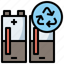 battery, ecology, environment, level, low, recycle, status icon
