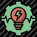 bolt, development, ecology, energy, environment, gear, miscellaneous, settings icon