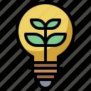 bulb, eco, ecological, electronics, energy, environment, light, lightbulb, nature icon