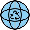 earth, globe, heart, love, shapes icon