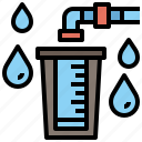 drop, electronics, filter, flask, funnel, water icon